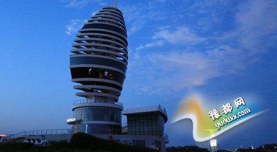 山东日照地标建筑外形酷似迪拜帆船酒店