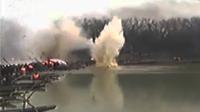 实拍演员拍戏腿被炸飞 炸药安置出错引事故