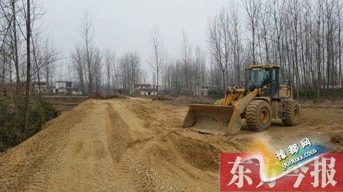 占用耕地修的路已基本打通