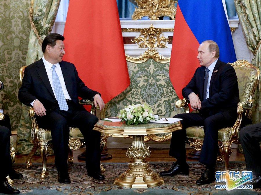 5月8日,国家主席习近平在莫斯科克里姆林宫同俄罗斯总统普京举行会谈。 新华社记者 马占成 摄