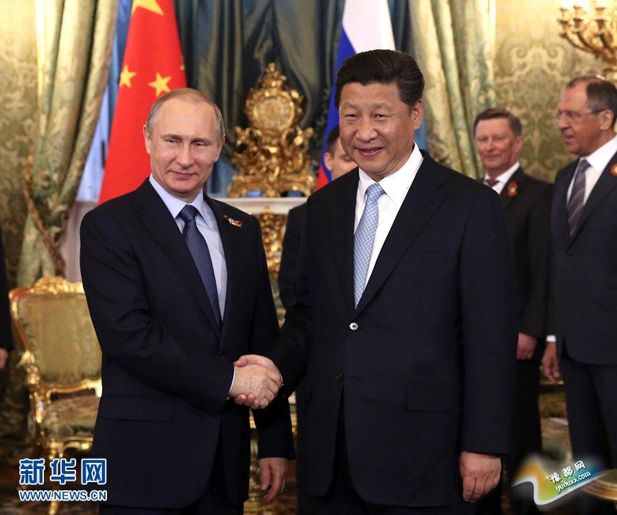 5月8日,国家主席习近平在莫斯科克里姆林宫同俄罗斯总统普京举行会谈。 新华社记者 黄敬文 摄