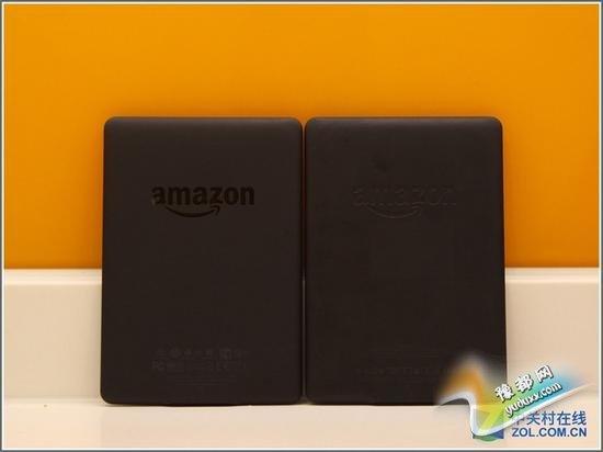 先来说说外观,第 三代Kindle Paperwhite的尺寸为169x 117x9.1mm,虽然其机身整体设计材质与上一代Kindle Paperwhite 没 有太大分别,但细心留意的话会发现机面下方的Kindle字样将会改为黑色凹印,机身背部的amazon标志也会改用与机壳一样的磨沙质感。