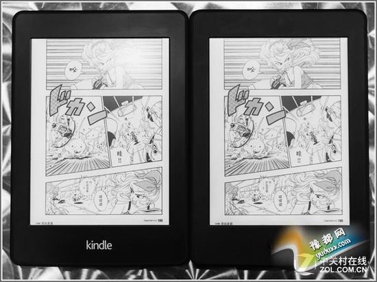 更加方便阅读漫画中的小字部分(左:Kindle Paperwhite二代 右:新Kindle Paperwhite)