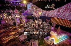 紫色主题婚礼策划 黑紫色调共忆美国爱情往事