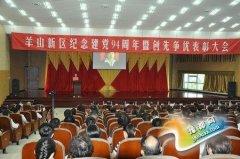 羊山新区召开纪念建党94周年暨创先争优表彰大会
