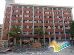 兰州大学宿舍楼爆炸 一至三层损毁严重7人受伤