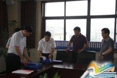 省市政法委领导到郑州四中调研平安建设工作
