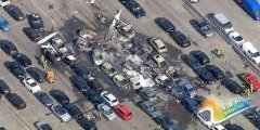 本拉登家族私人飞机坠毁伦敦公路 3人死亡