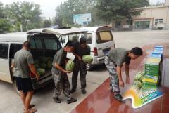 渑池县环境保护局慰问共建部队官兵
