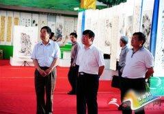 """""""翰墨中原""""豫皖八县市书画联展在新蔡县举行"""