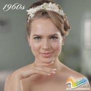 2分钟带你看完50年间婚礼发型的变化(图)