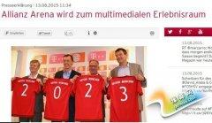 拜仁获每年5000万欧巨额赞助 远超皇马巴萨两强