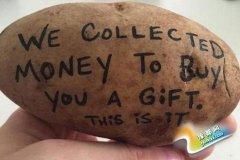 美国小伙用土豆替客户传递信息 月赚6.4万元