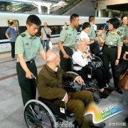 部分抗战老兵今日抵达北京(组图)