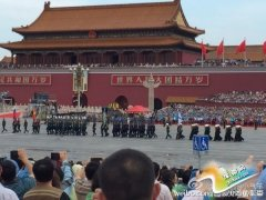 抗战阅兵预演 外军方阵参加阅兵彩排