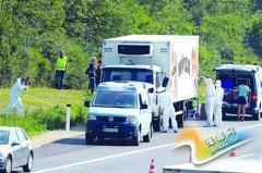 奥地利卡车内现50具尸体 疑是欲偷渡至欧洲难民