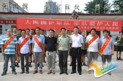 义马市水利局开展拥军活动