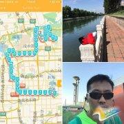 用自己的脚步丈量北京城 北京马拉松赛路线试跑