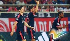 欧冠-穆勒2球+复制小罗神吊射 格策破门拜仁3-0