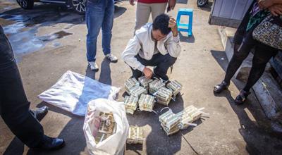 沈阳公交车肇事 赔给家属4万1元纸币
