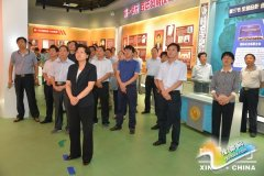 新野县县处级干部参观南阳市反腐倡廉警示教育展