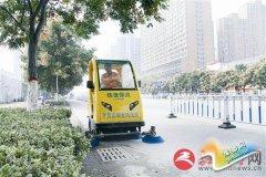 新型电动保洁车既环保又快捷