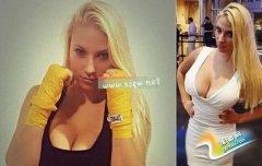 美国业余女拳击手受困于巨乳 被迫升组参加比赛