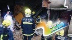 男子被垮塌楼板压住 消防赶到成功将人救出(图)