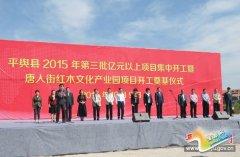 我县举行2015年第三批亿元以上项目集中开工暨唐人街红木文化产业园项目开工奠基仪式