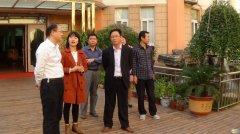 市领导视察淮河办事处息淮社区未成年人思想道德教育基地建设情况