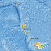 瓦努阿图发生7.1级地震 震源深度127公里