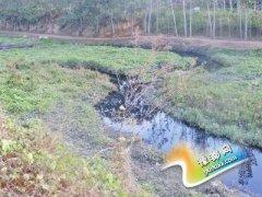 村民为引水浇地截断排污管 须水河变臭水沟