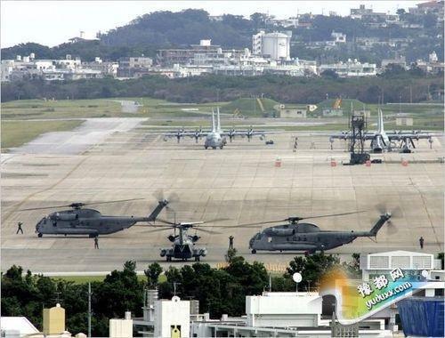资料图片:普天间机场。