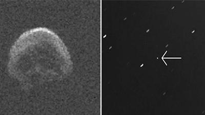 NASA发现一颗彗星掠过地球 外形酷似骷髅