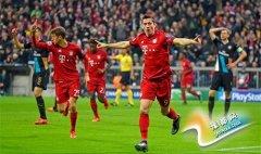 欧冠-穆勒2球莱万破门拜仁5-1 阿森纳濒临出局