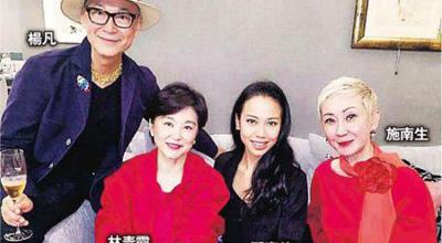 林青霞庆61岁生日气色佳 大女儿送蛋糕祝寿