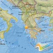 希腊西北部发生6.5级地震 震源深度11公里(图)