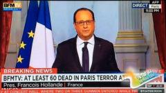 """奥朗德宣布法国进入紧急状态 讲话时""""明显在颤抖"""""""