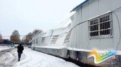 郑州车管所城西服务站大厅被雪压塌 暂停服务