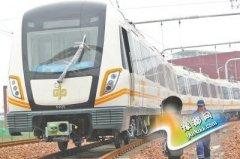 郑州地铁2号线列车来了 共设车站16座