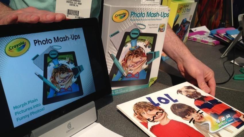 Crayola 照片混搭器:这可能就是孩子们的Photoshop了!Crayola公司推出了一个新的数字照片应用和配件,让孩子们变形、混搭照片,以创建拼贴画。它支持iOS和某些Windows 8平板,价格为19.99美元(约合人民币125元),将在今年8月面世。