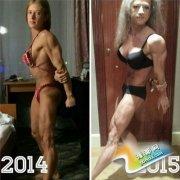 俄罗斯美女疯狂健身却引发急速衰老 疑训练过度