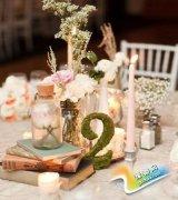 西式婚礼布置之桌花布置 打造浪漫桌花艺术