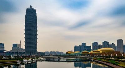 高清组图:上合会议前的郑东新区