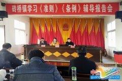 砖桥镇召开党员干部会学习《准则》《条例》