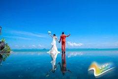 海边拍婚纱照的姿势 拍出大气时尚的海景婚纱照