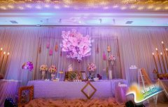 粉色婚礼现场布置 打造梦幻婚礼