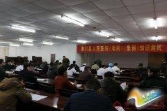 潢川县人民医院组织党员《准则》和《条例》知识集中测试活动