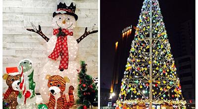 郑州各大商场圣诞颜值比拼 看看谁更养眼
