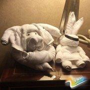 客人折纸鹤放小费 服务员折小猪小兔!萌啊!网友求折法